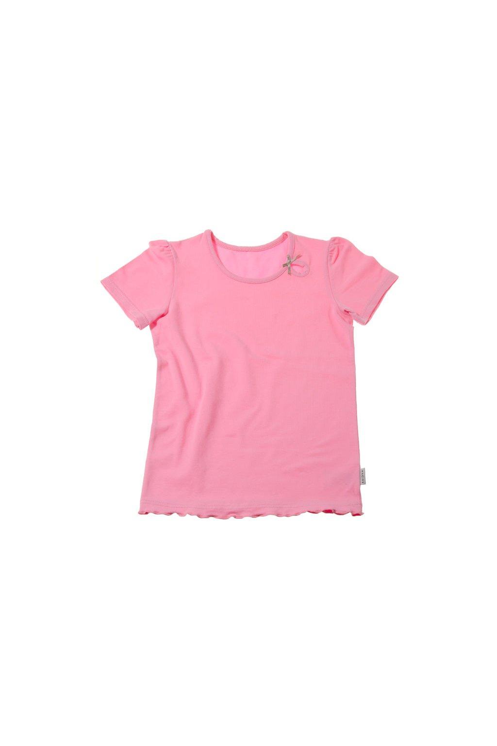 Dívčí košilka s krátkým rukávem, 40230 149, růžová