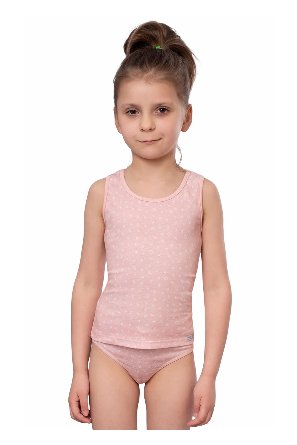 Dívčí košilka se širokými ramínky, 40257 9, růžová