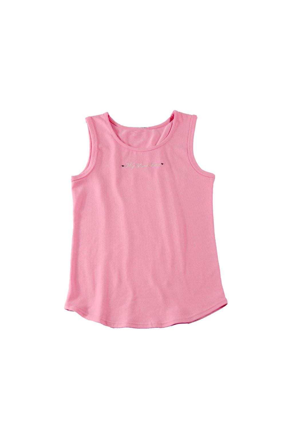 Dívčí košilka se širokými ramínky, 40233 149, růžová