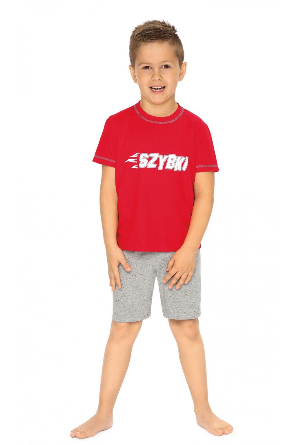 Chlapecké pyžamo s krátkým rukávem, 504104 258, červená