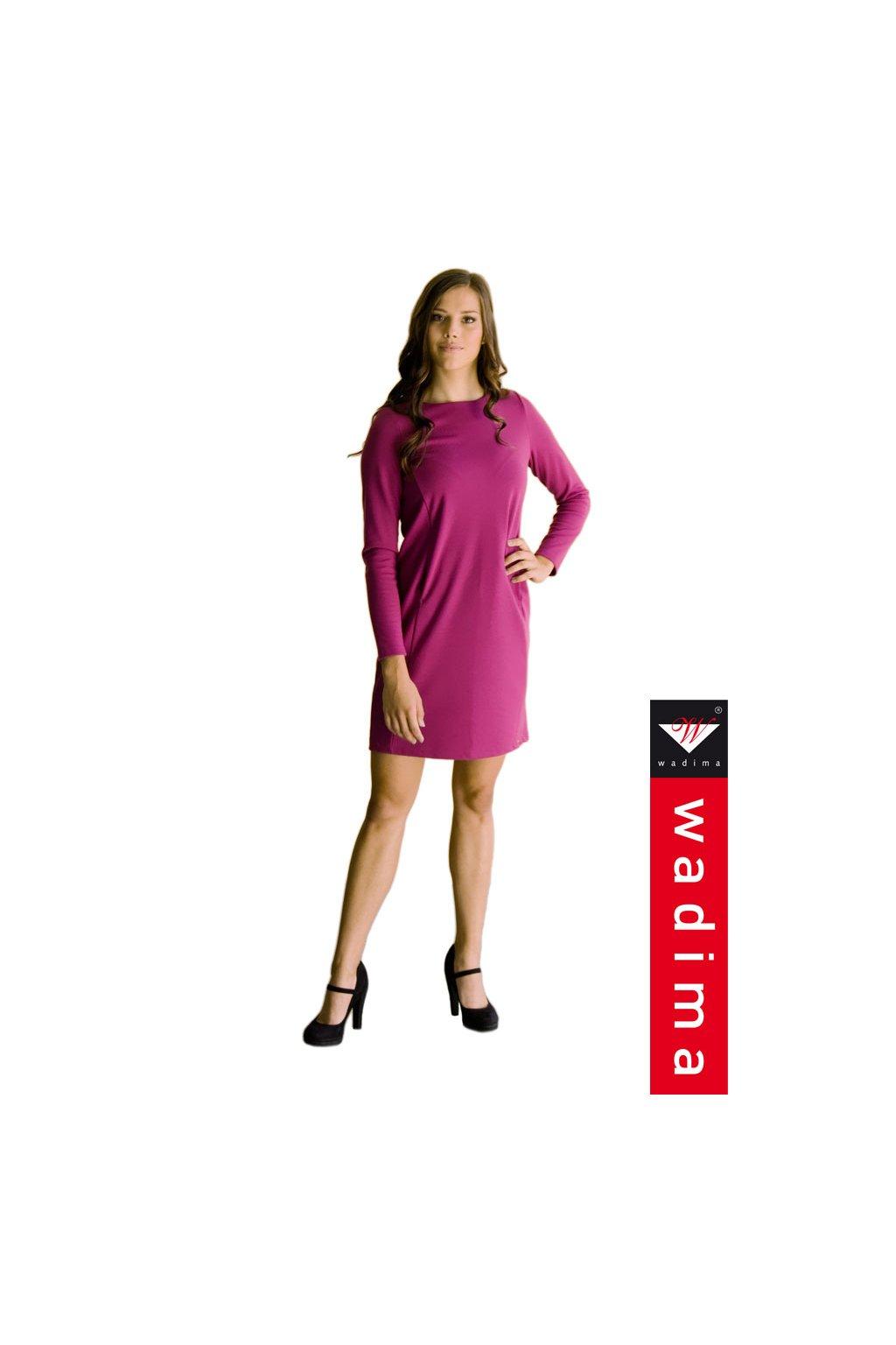 Dámské šaty s dlouhým rukávem, 10529 227, purpurová