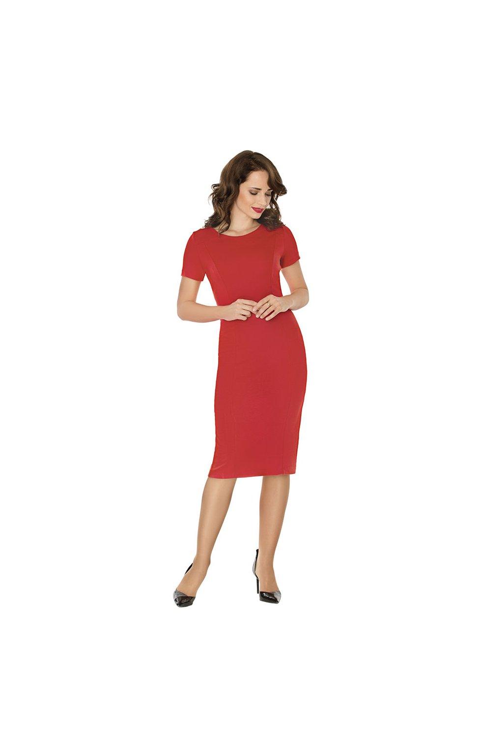 Dámské šaty s krátkým rukávem, 10577 258, červená
