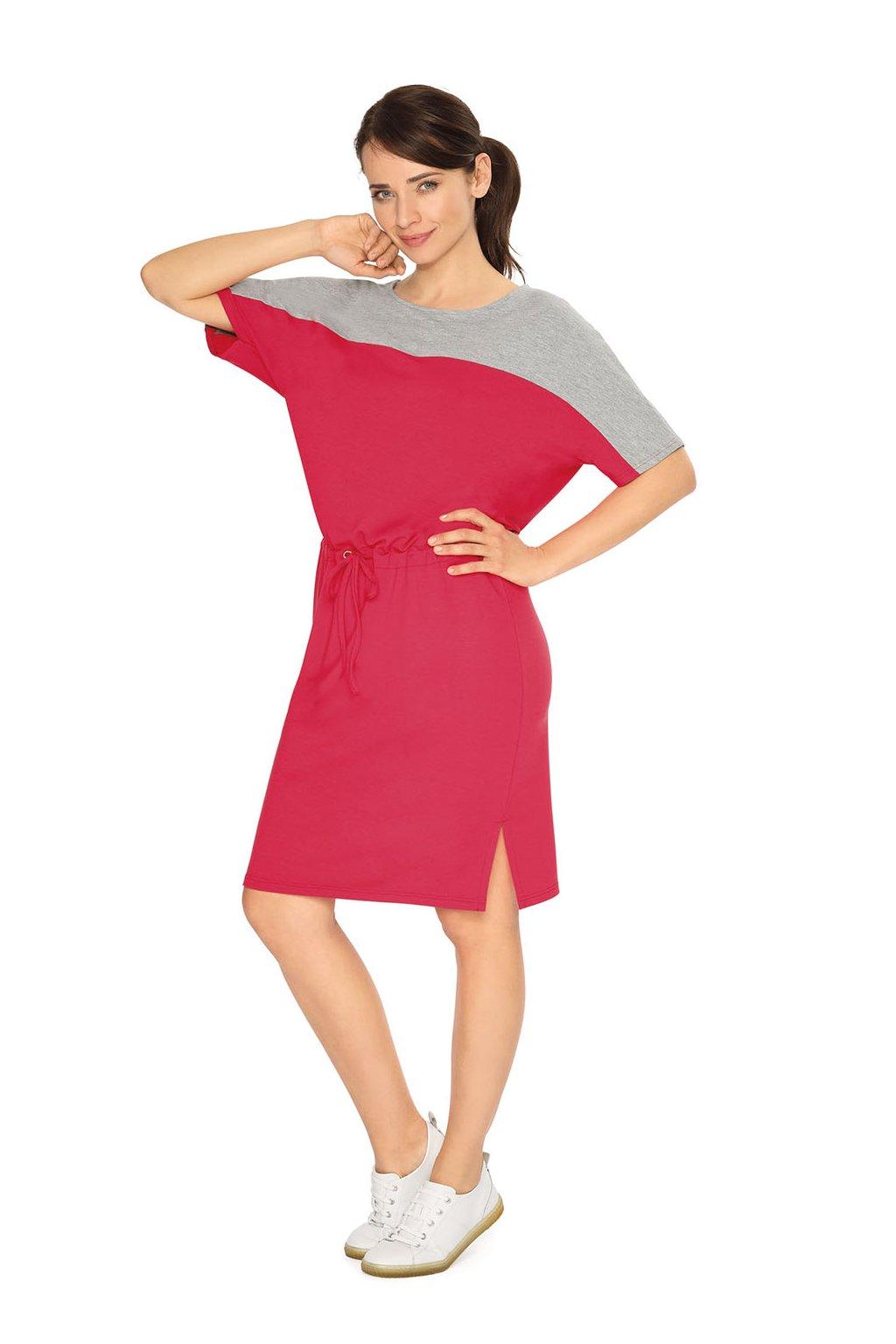 Dámské šaty s krátkým rukávem, 105121 221, červená