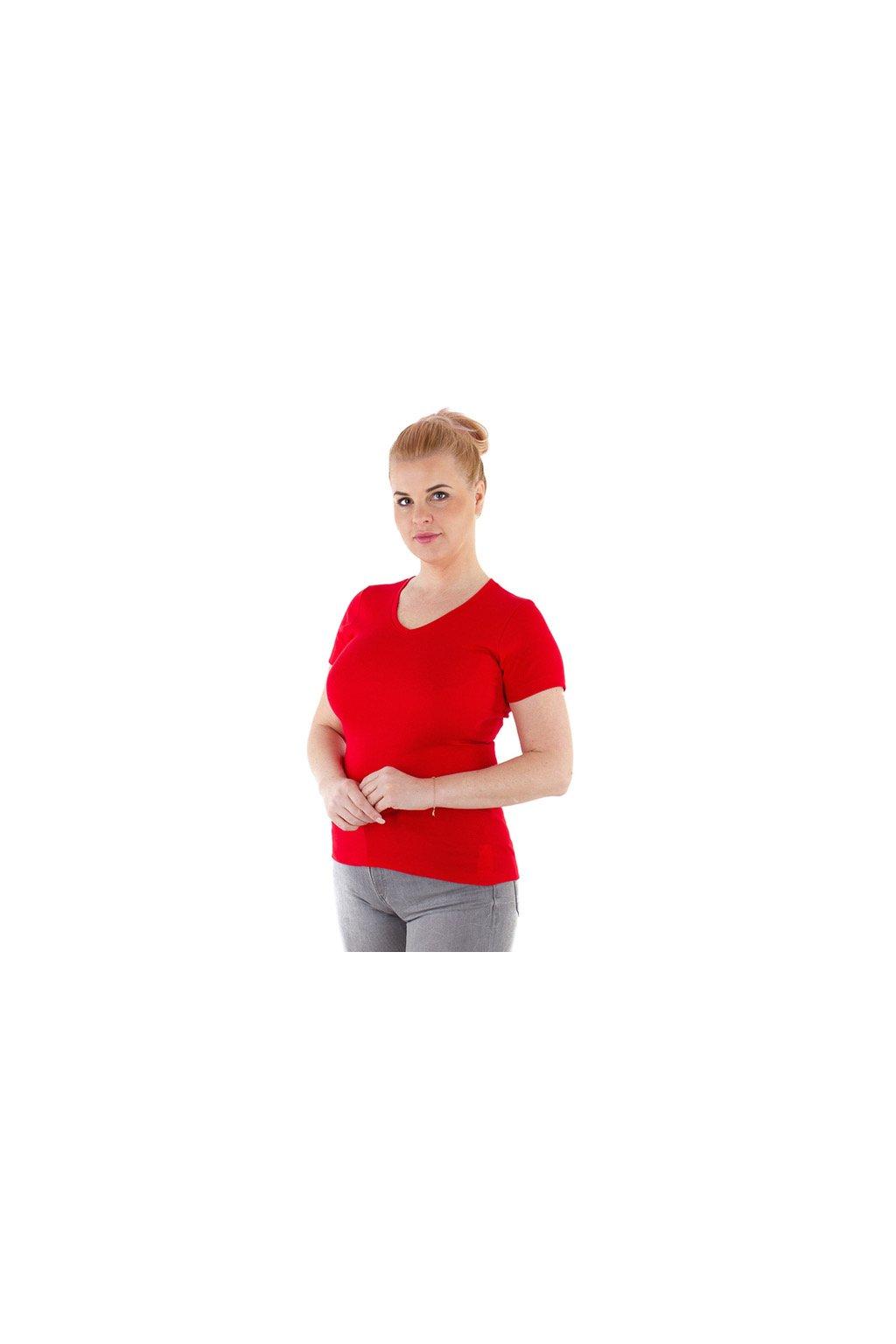 Dámská halenka s krátkým rukávem, 103717 250, červená