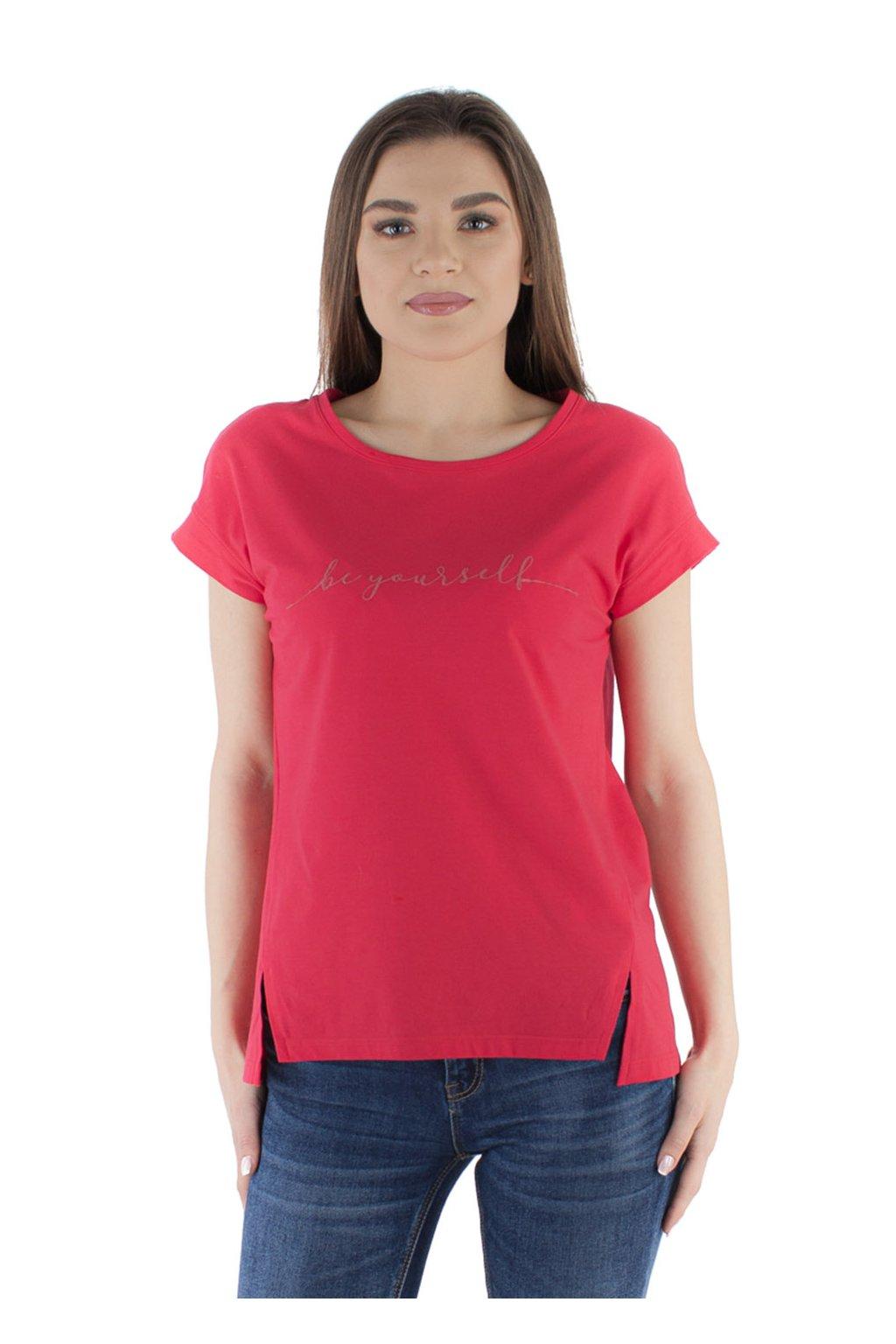 Dámská halenka s krátkým rukávem, 103763 221, červená