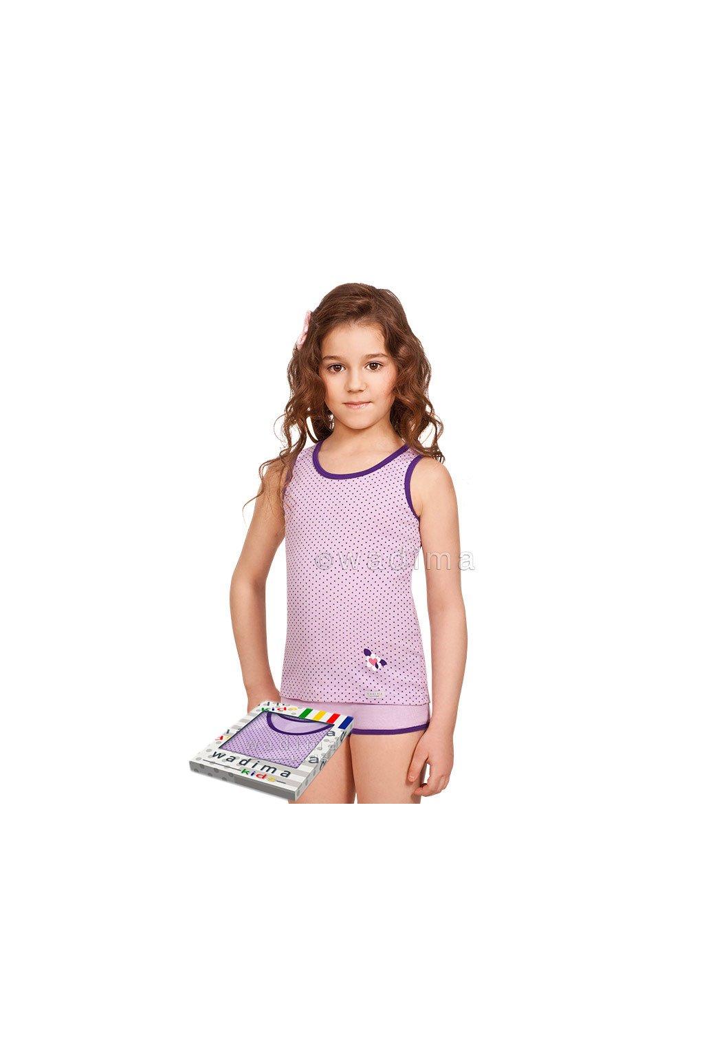 Dívčí košilka se širokými ramínky, 40240 169, lila