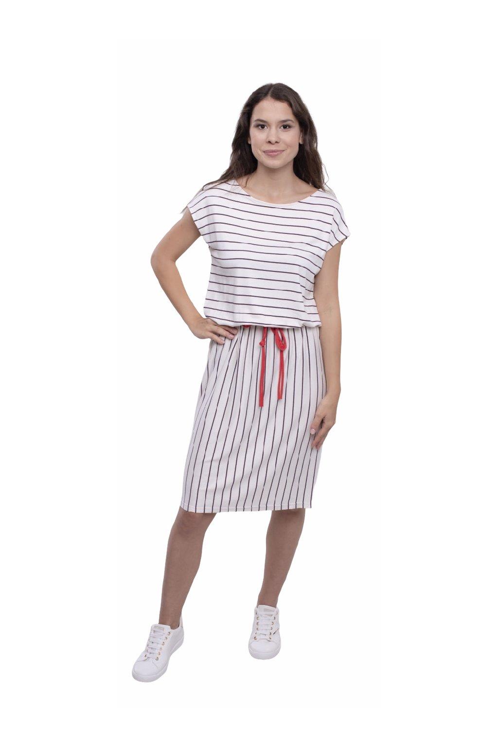 Dámské šaty s krátkým rukávem, 105142 175, fialová