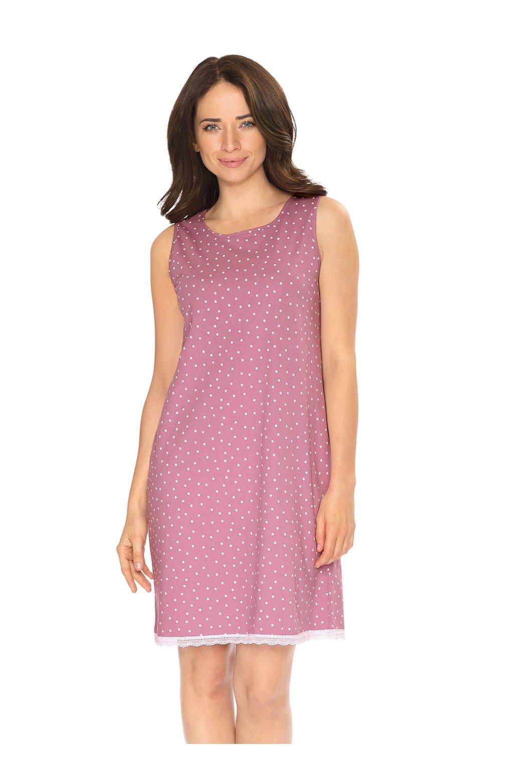 Dámská noční košile se širokými ramínky, 104522 465, fialová