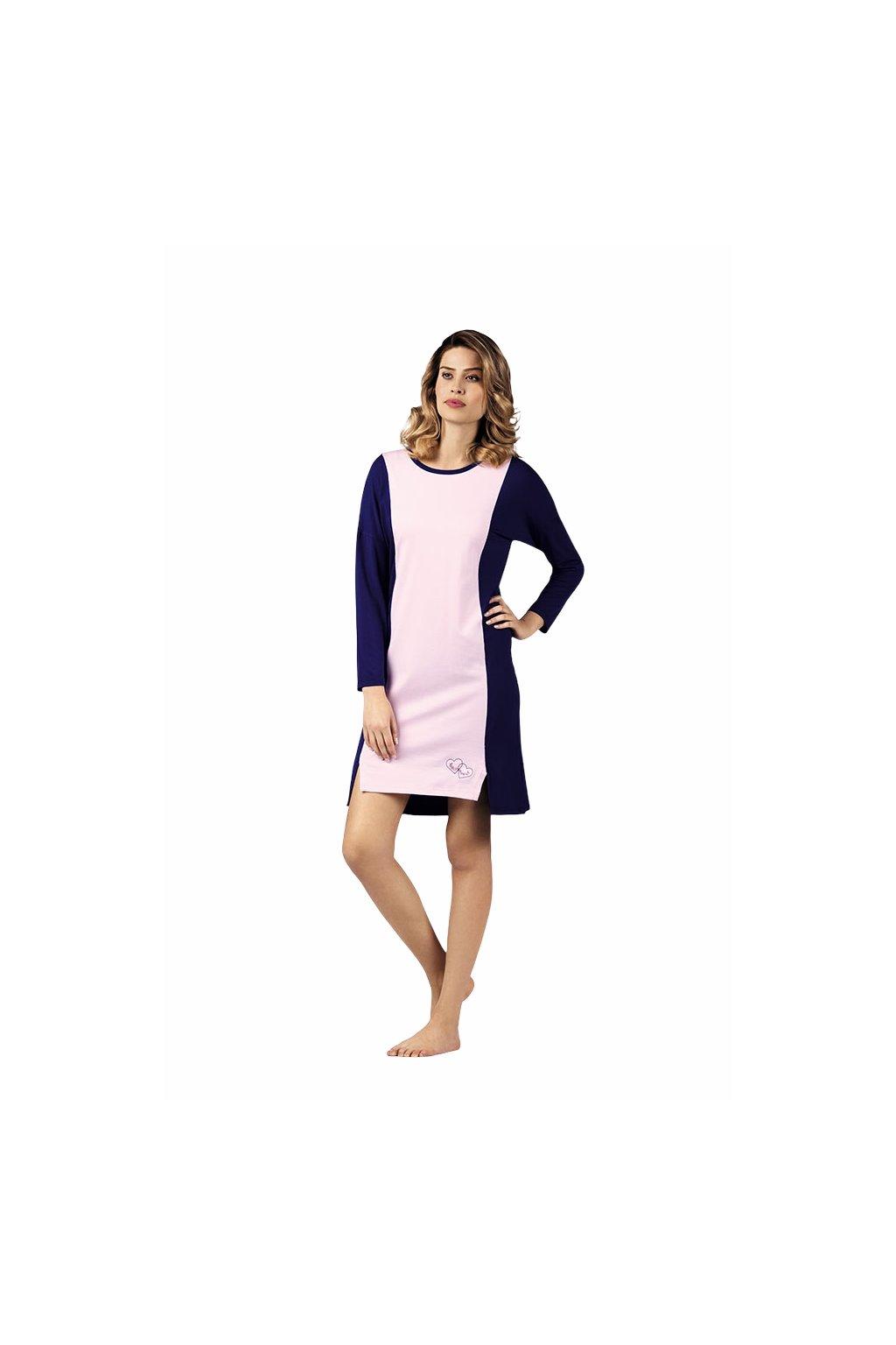 Dámská noční košile s 3/4 rukávem, 104420 912, lila/fialová