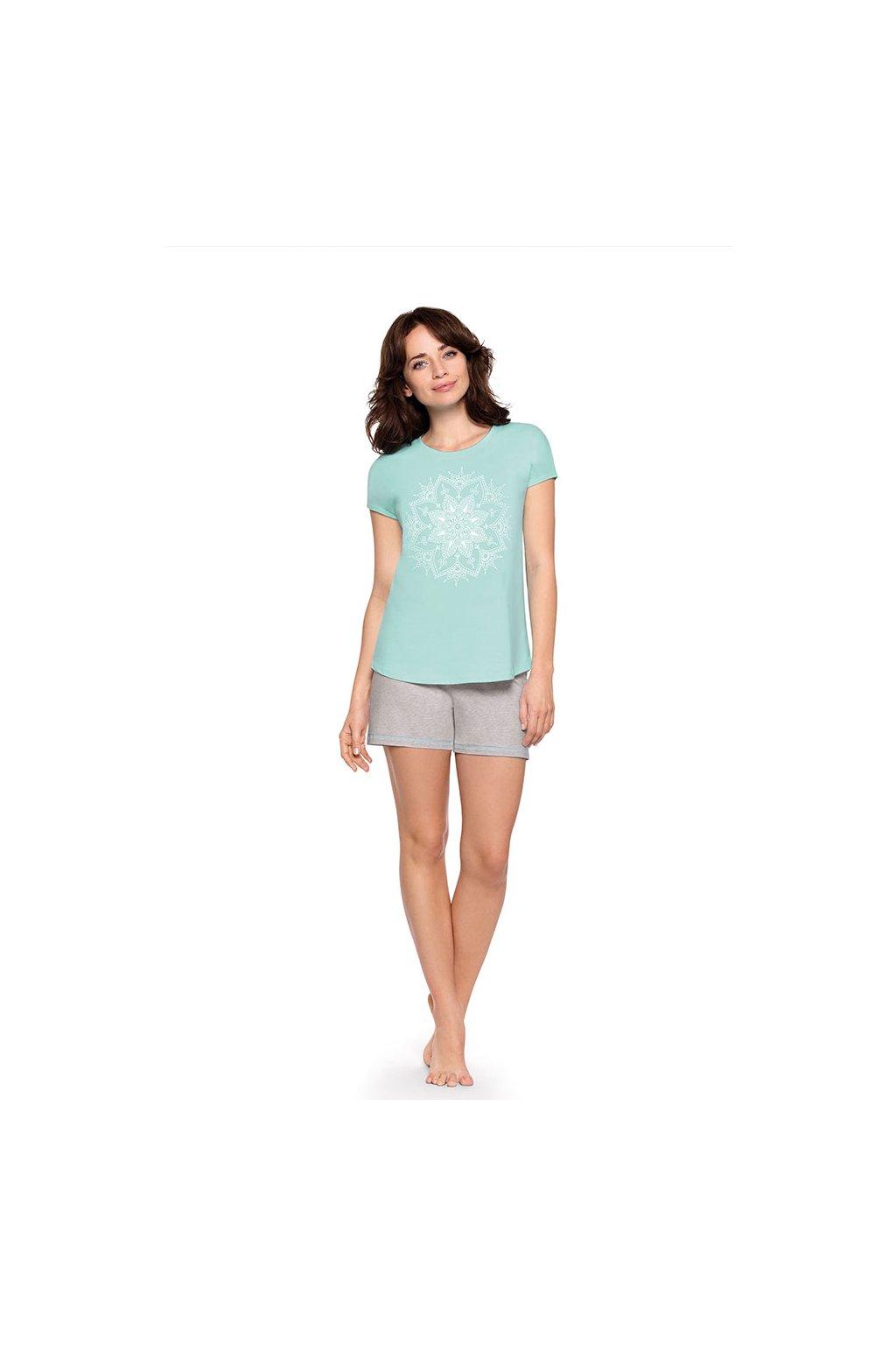 Dámské pyžamo s krátkým rukávem, 104469 98, modrá