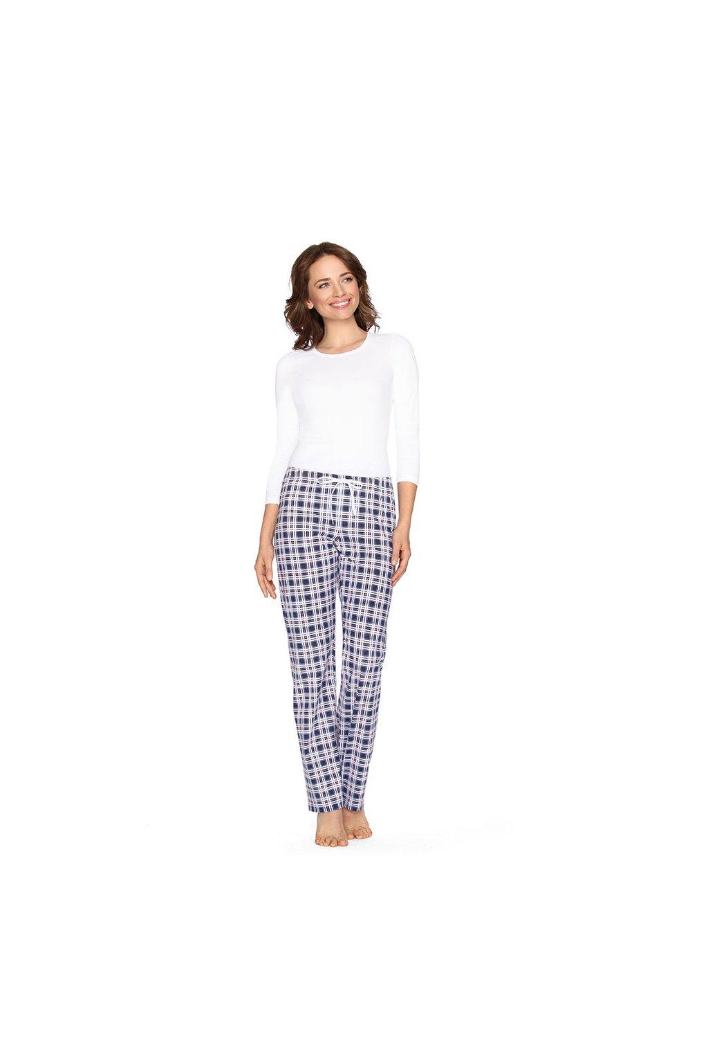 Dámské pyžamové kalhoty s dlouhými nohavicemi, 104395 208, modrá