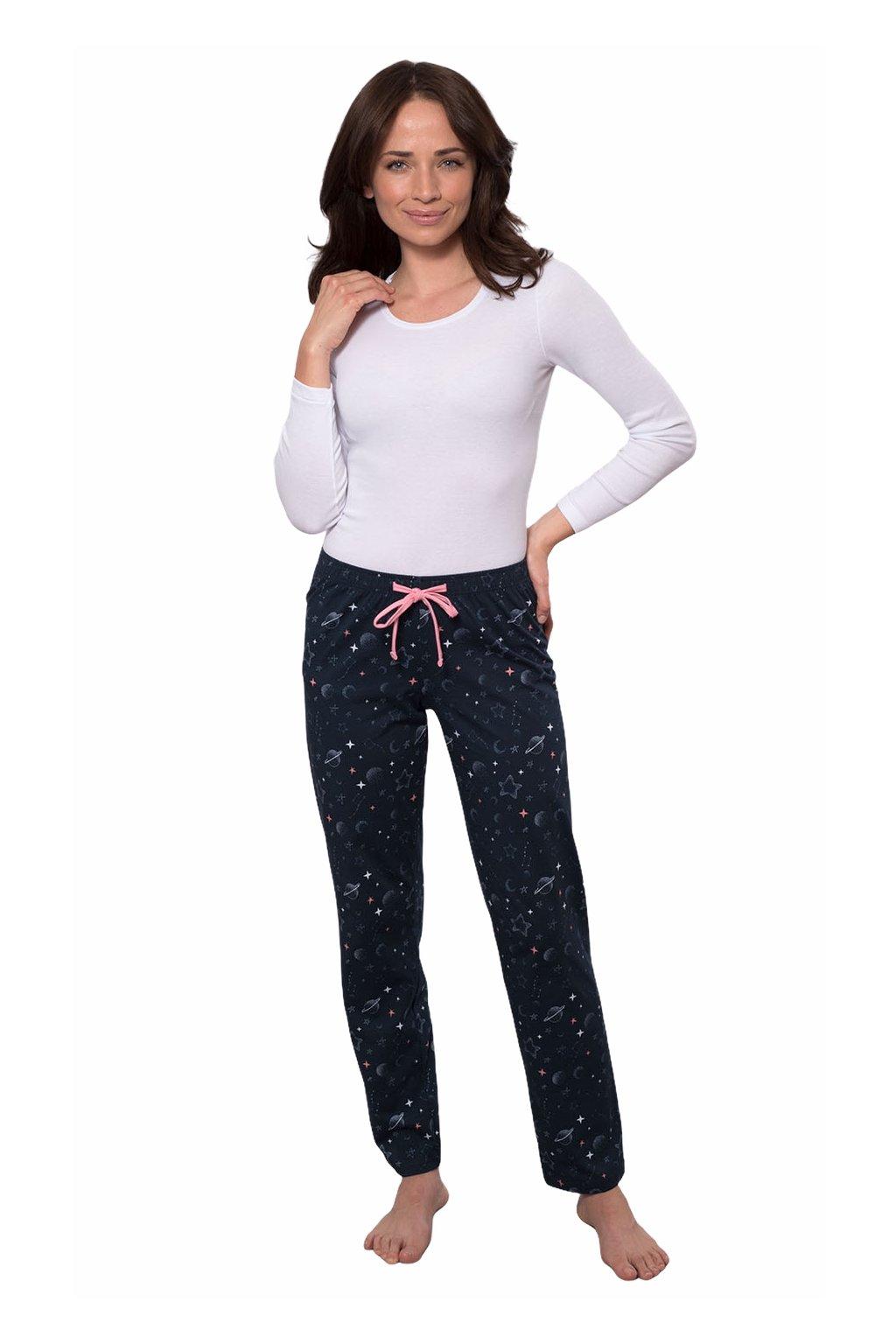Dámské pyžamové kalhoty s dlouhými nohavicemi, 104395 261, modrá