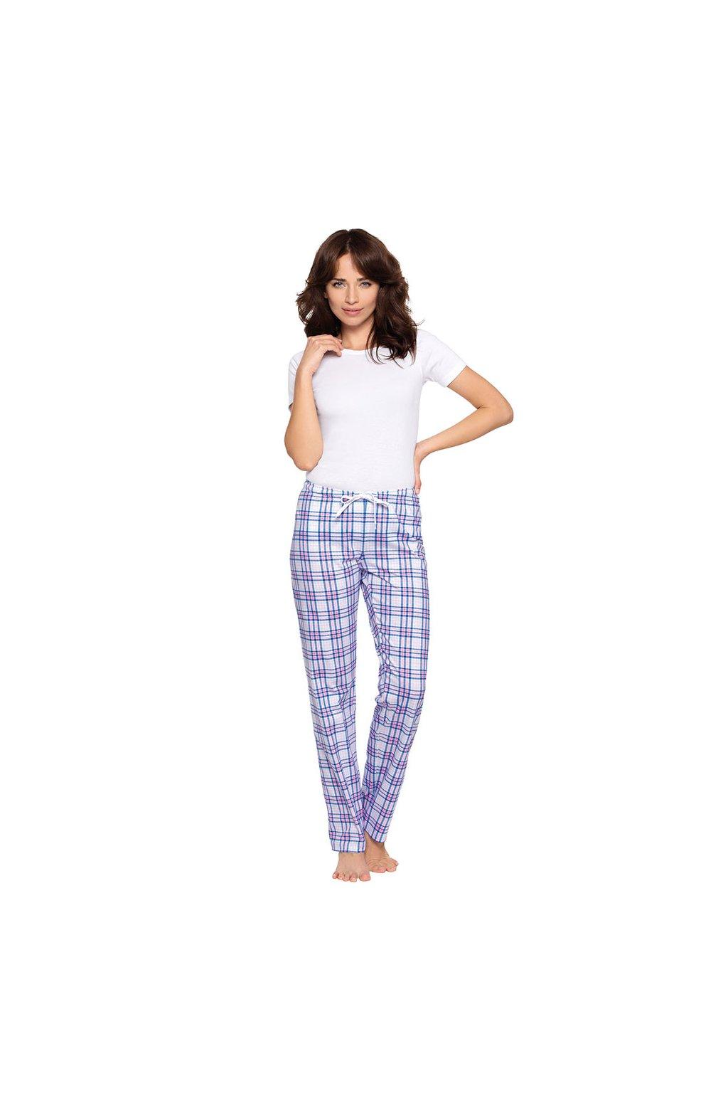 Dámské pyžamové kalhoty s dlouhými nohavicemi, 104395 275, modrá