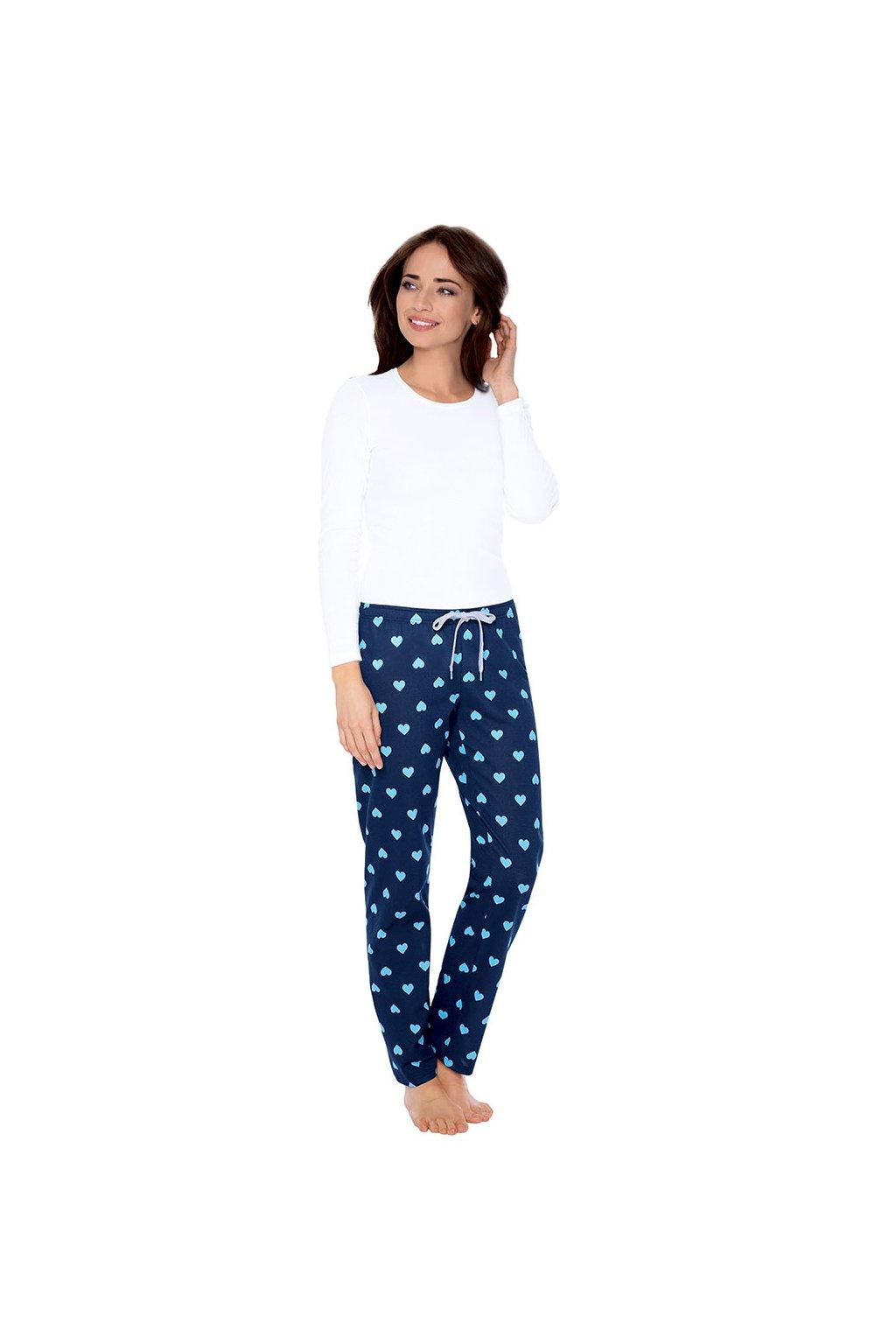 Dámské pyžamové kalhoty s dlouhými nohavicemi, 104395 28, modrá