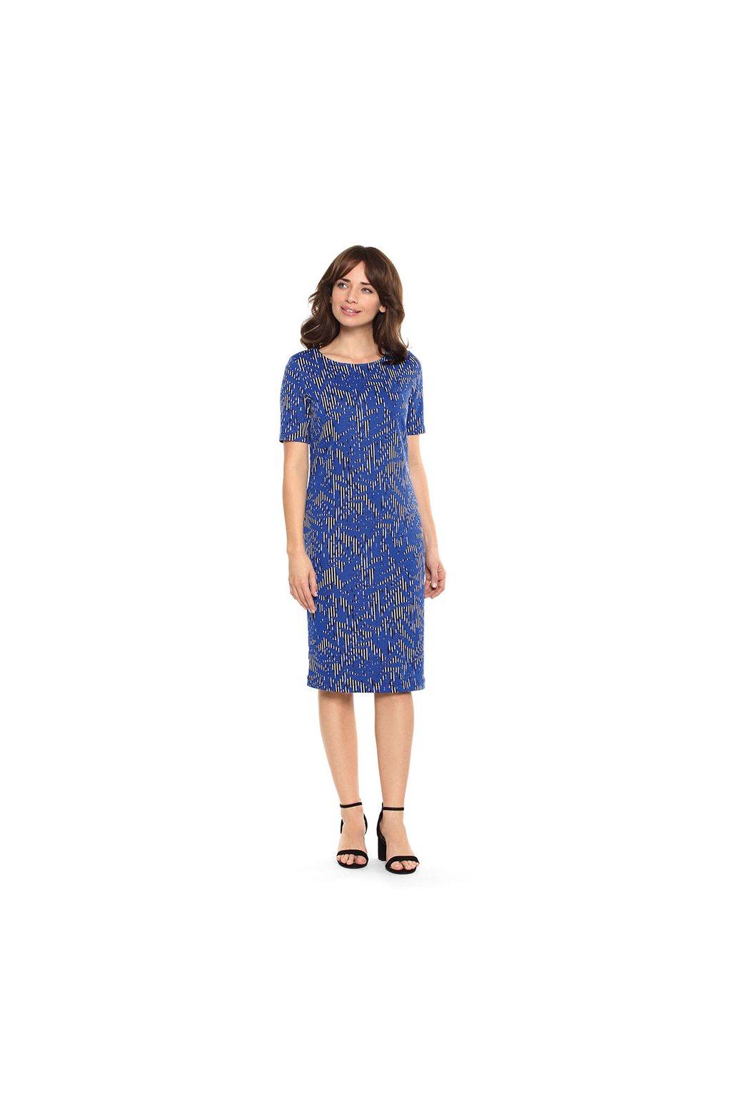 Dámské šaty s krátkým rukávem, 105103 299, modrá