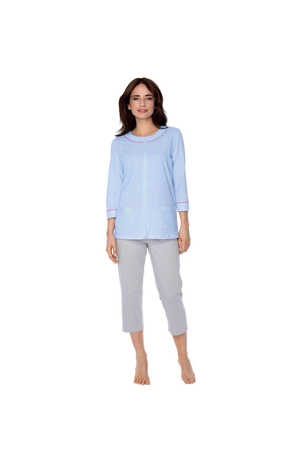 Dámské pyžamo s 3/4 rukávem, 104493 18, modrá