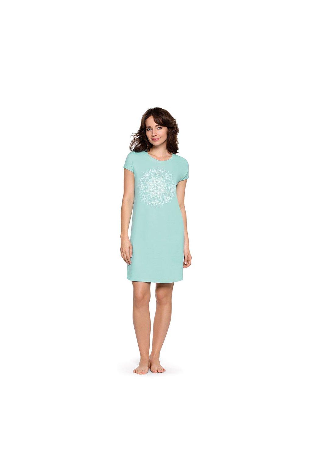 Dámská noční košile s krátkým rukávem, 104471 98, modrá