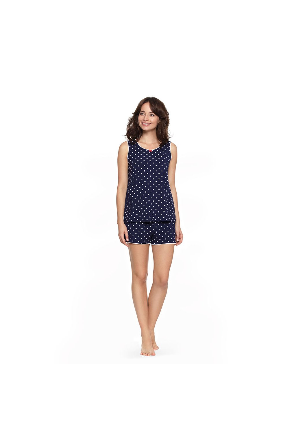 Dámské pyžamo se širokými ramínky, 104475 101, tmavě modrá