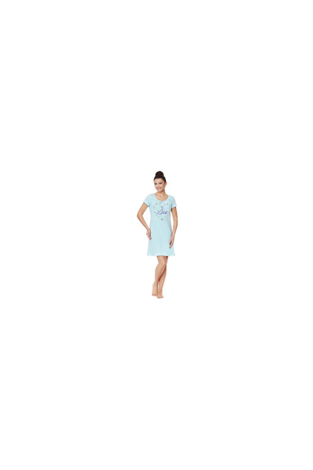 Dámská noční košile s krátkým rukávem, 104331 16, modrá