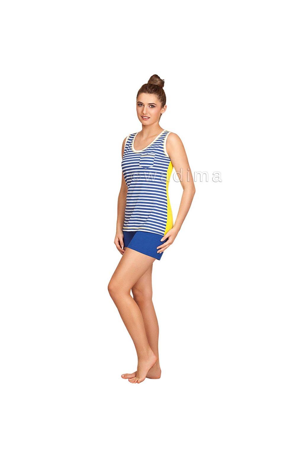 Dámské pyžamo se širokými ramínky, 104305 344, modrá
