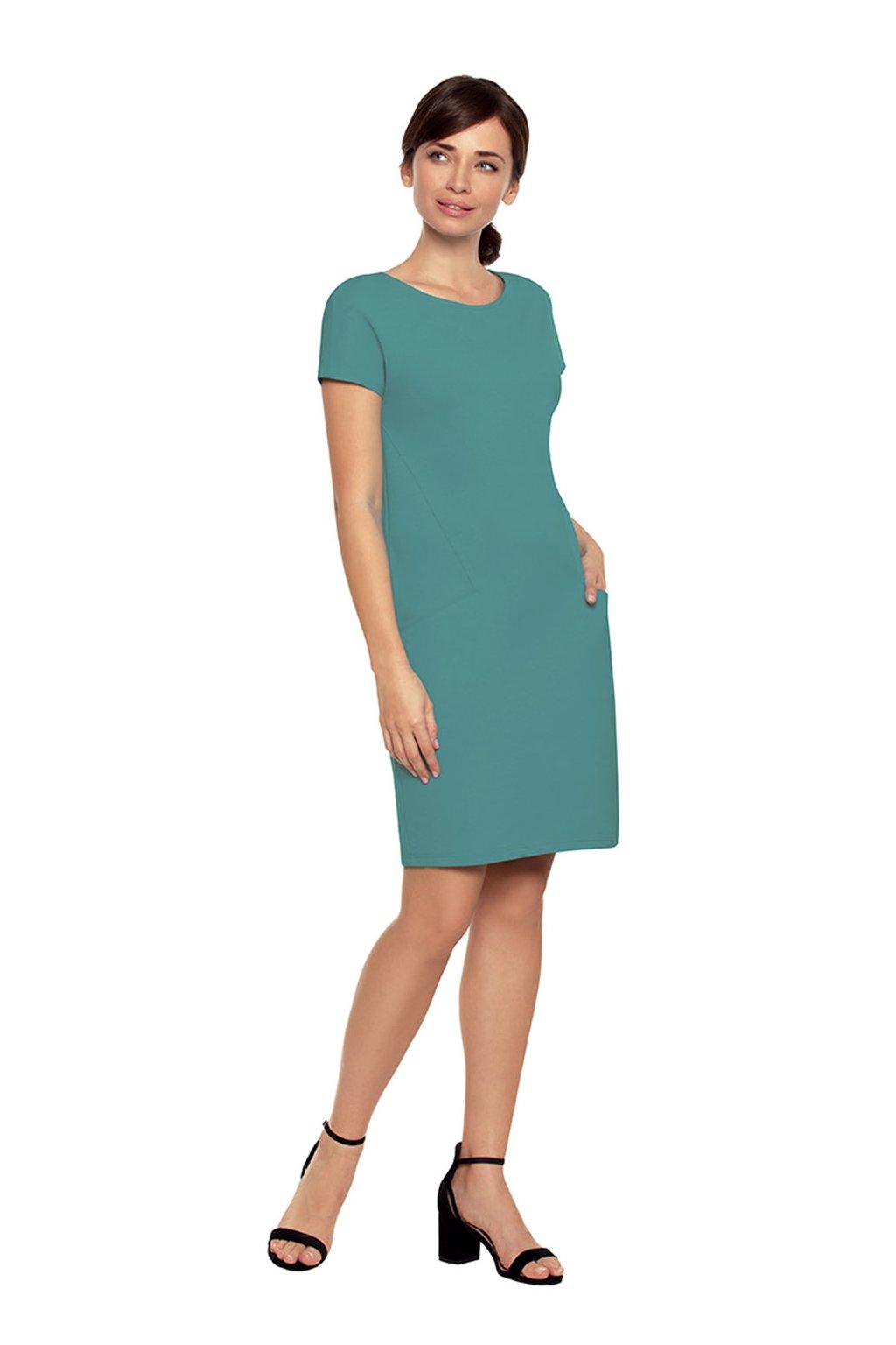 Dámské šaty s krátkým rukávem, 10524 467, modrá