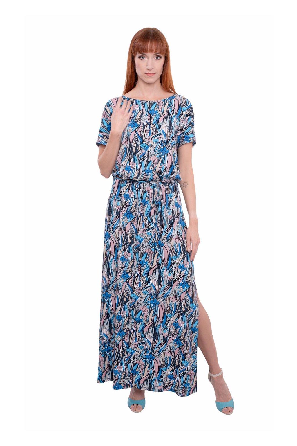 Dámské šaty s krátkým rukávem, 1N501 416, modrá