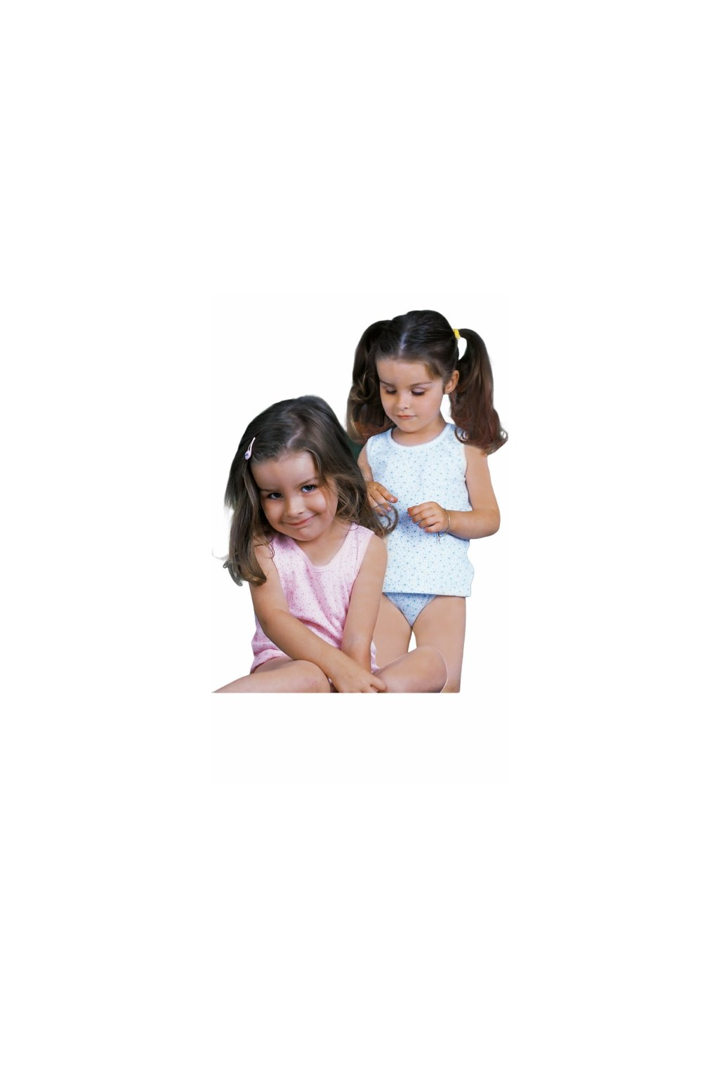 Dívčí košilka se širokými ramínky, 40206 59, světle modrá