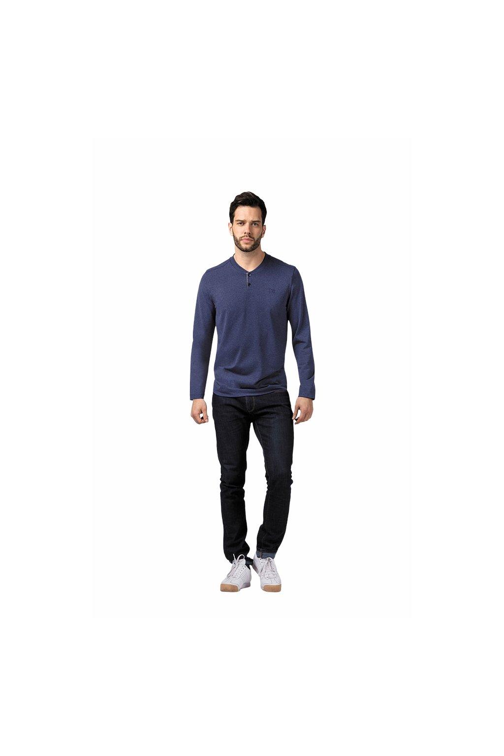 Pánské tričko s dlouhým rukávem, 20312 400, modrá