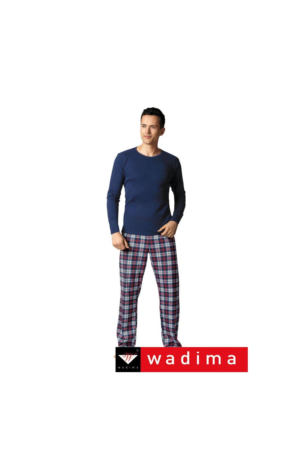 Pánské pyžamové kalhoty, 20482 163, tmavě modrá