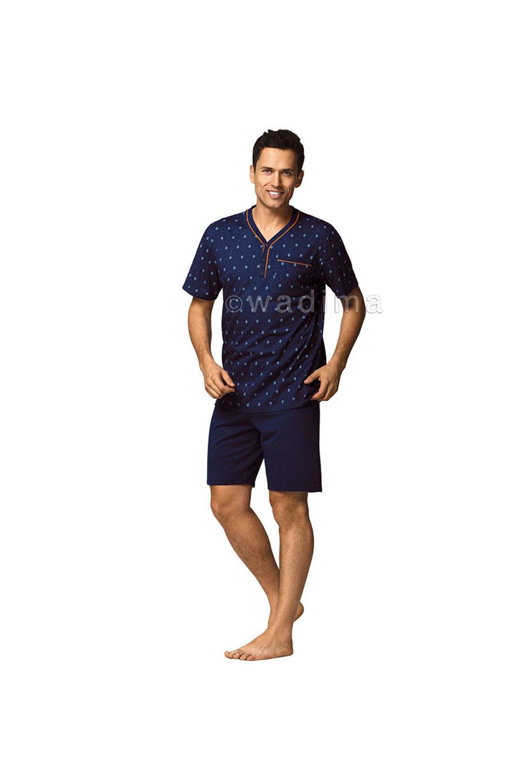Pánské pyžamo s krátkým rukávem, 20469 208, modrá