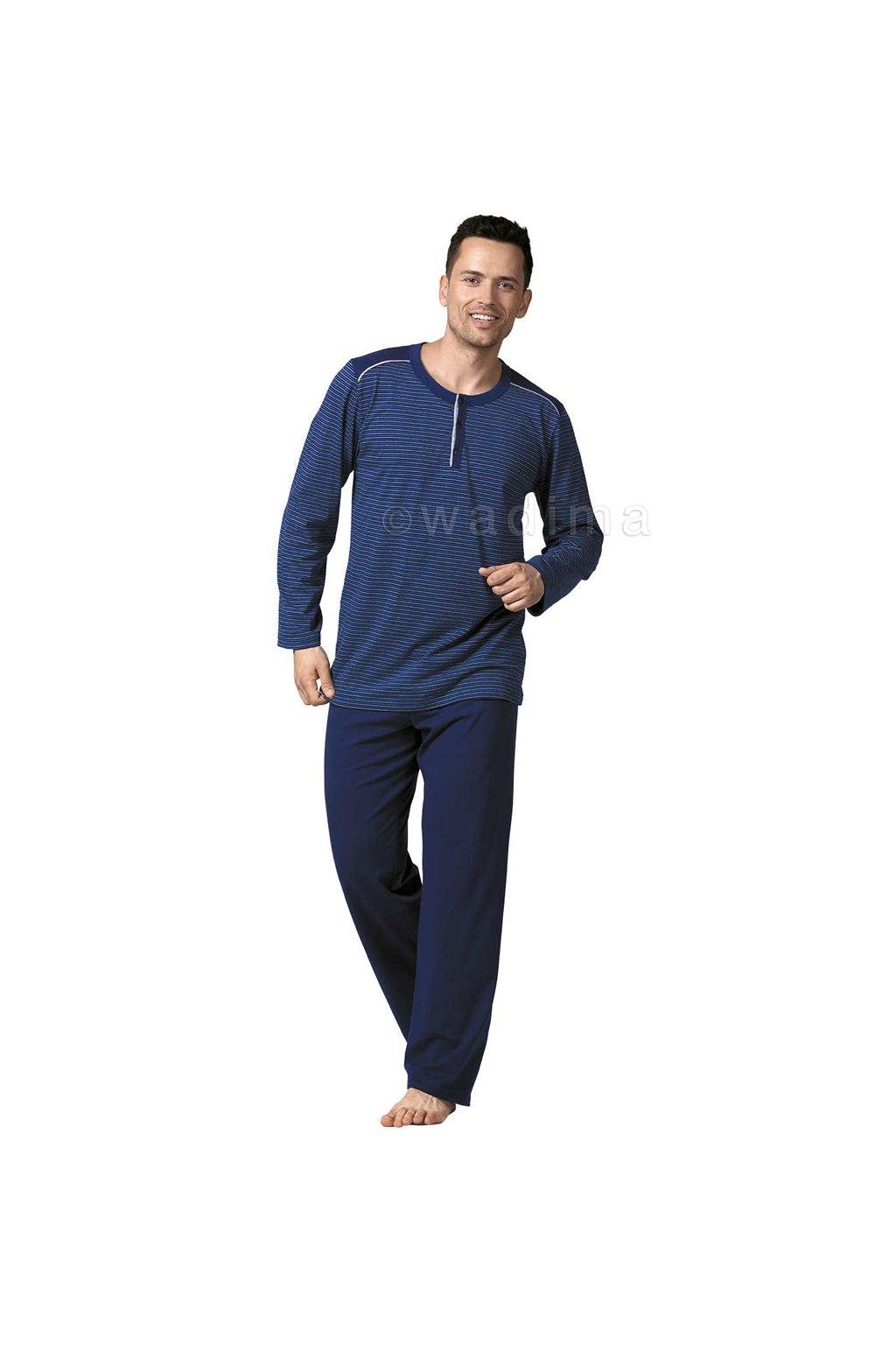 Pánské pyžamo s dlouhým rukávem, 20473 339, granátová