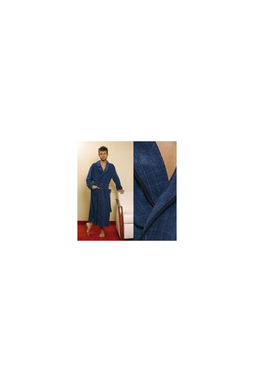 Pánský župan, 20412 117, tmavě modrá