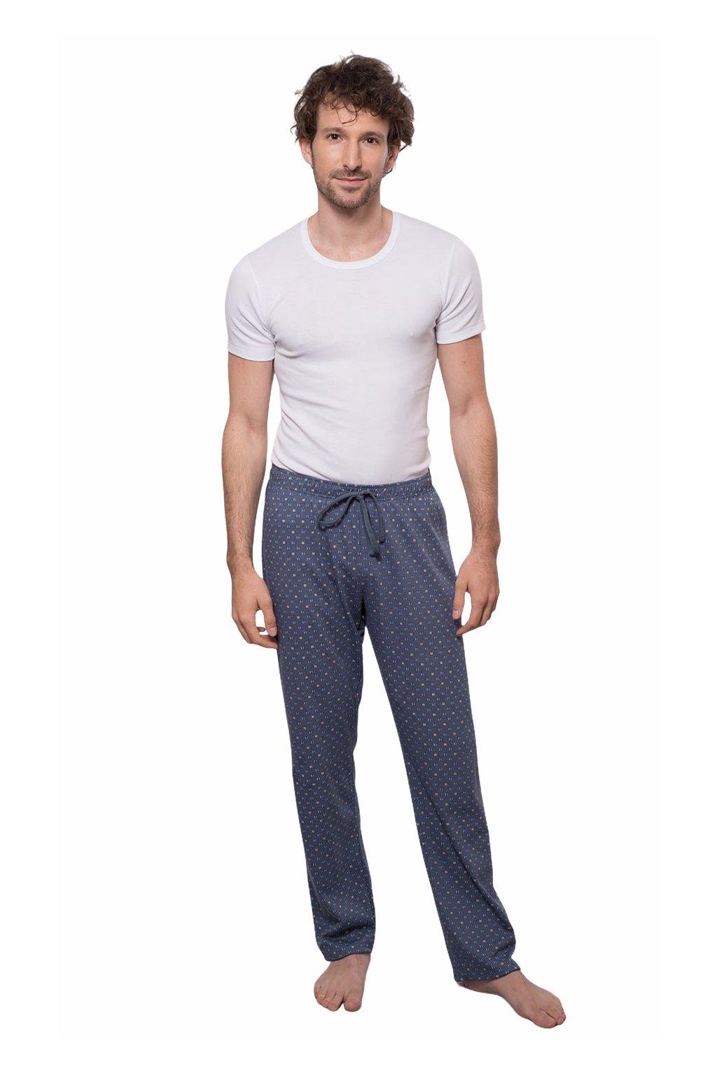Pánské pyžamové kalhoty s dlouhými nohavicemi, 204128 480, modrá