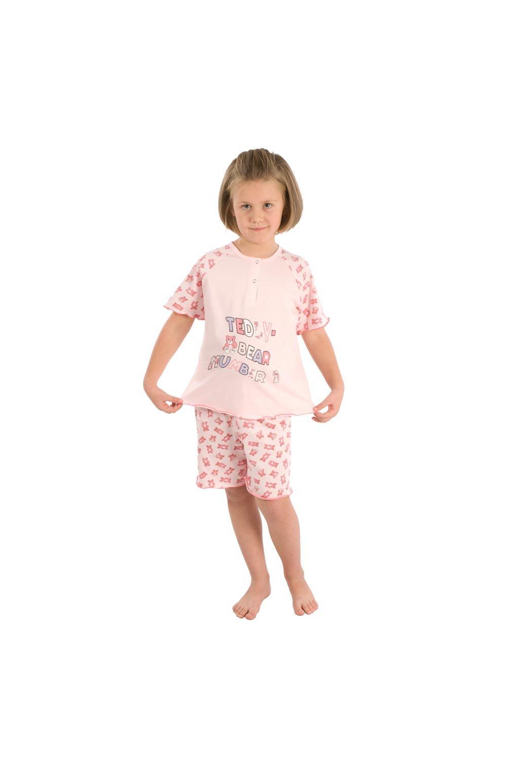 Dívčí pyžamo s krátkým rukávem, 40421 16, modrá