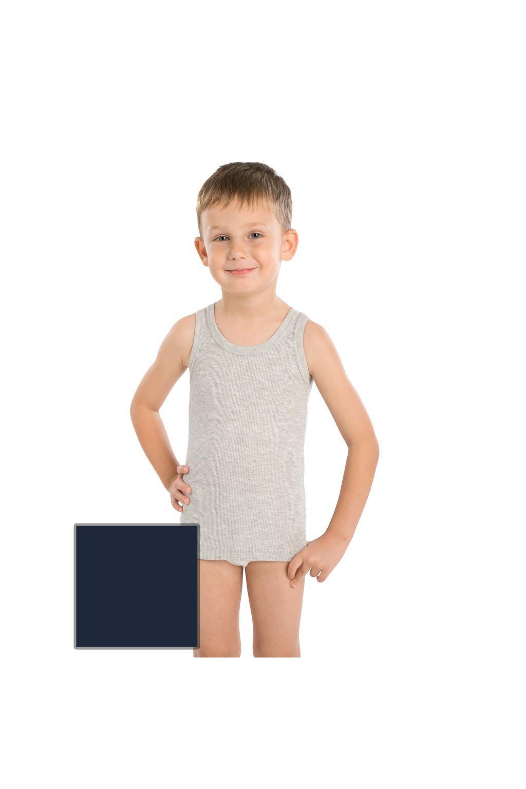 Chlapecký nátělník se širokými ramínky, 502DANIEL 28, modrá