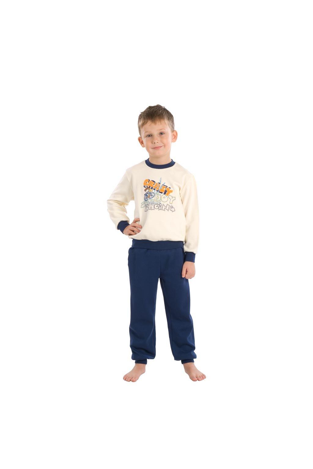 Chlapecké pyžamo s dlouhým rukávem, 50418 591, modrá