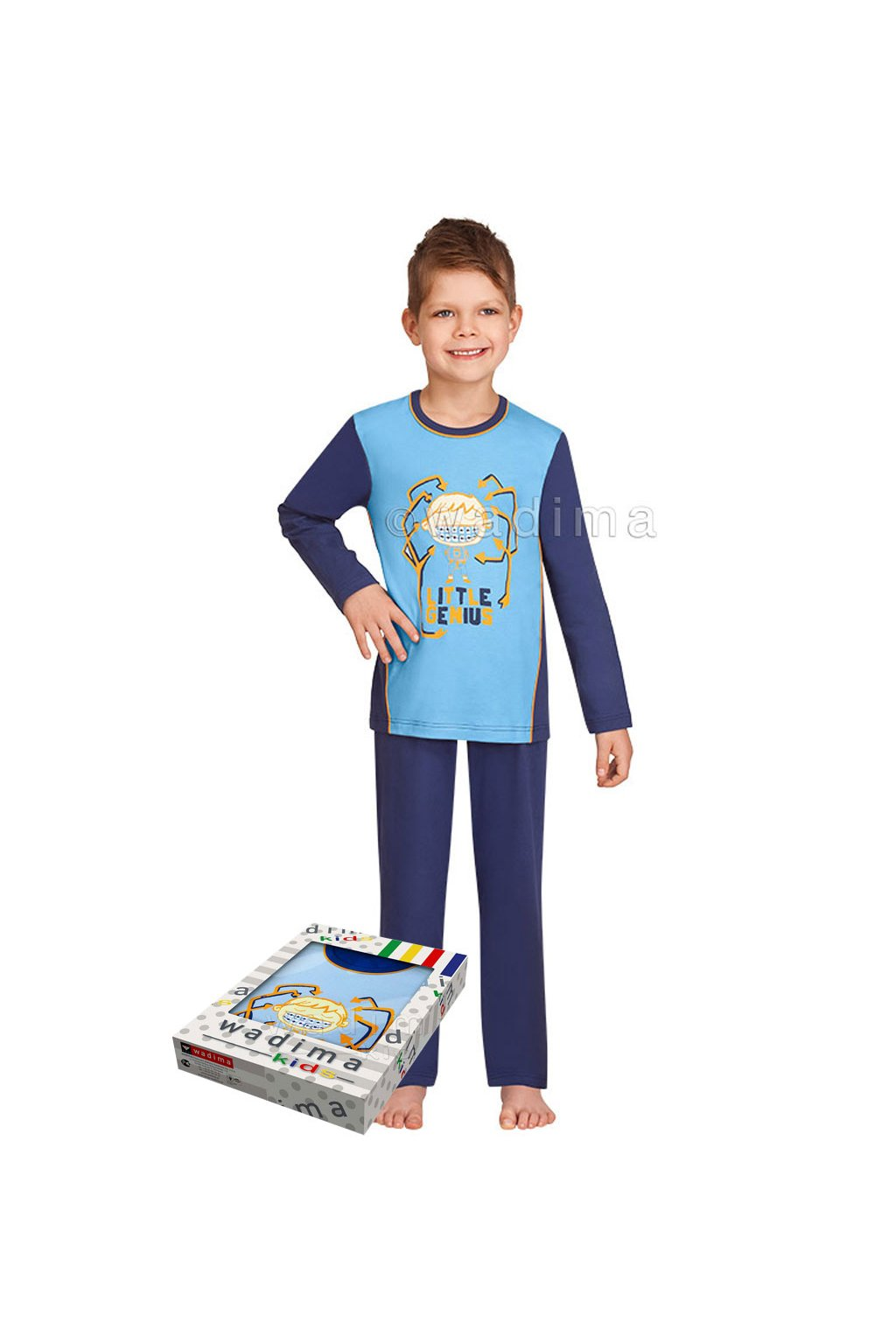 Chlapecké pyžamo s dlouhým rukávem, 50470 802, modrá