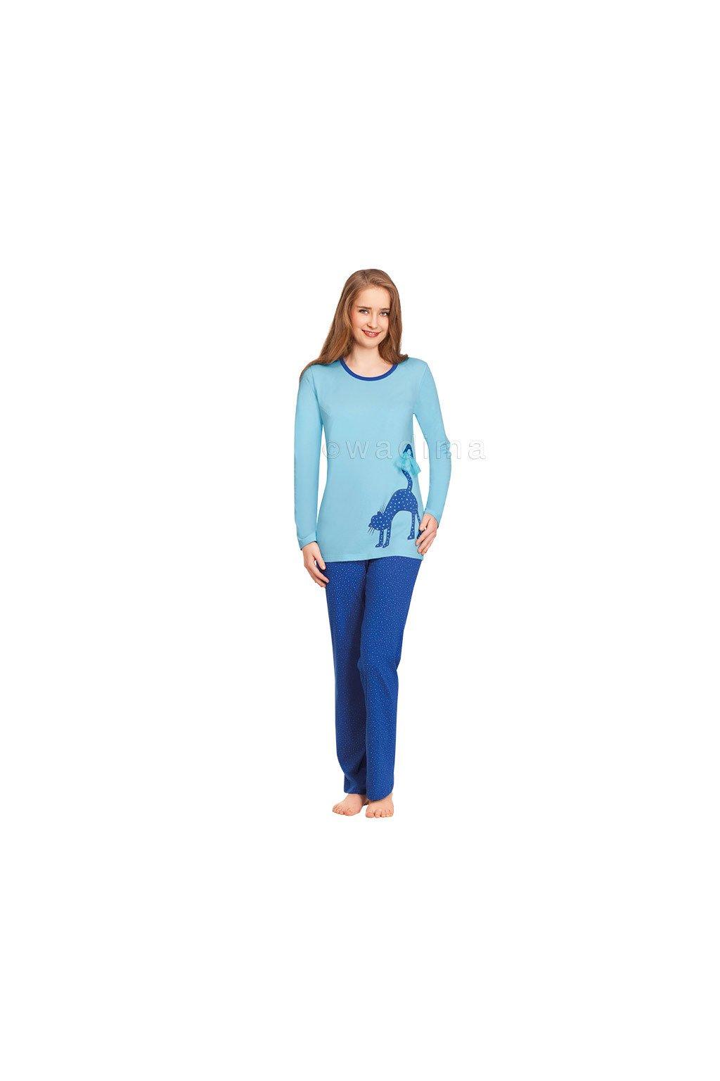 Dívčí pyžamo YOUNG FASHION s dlouhým rukávem, 70439 786, modrá