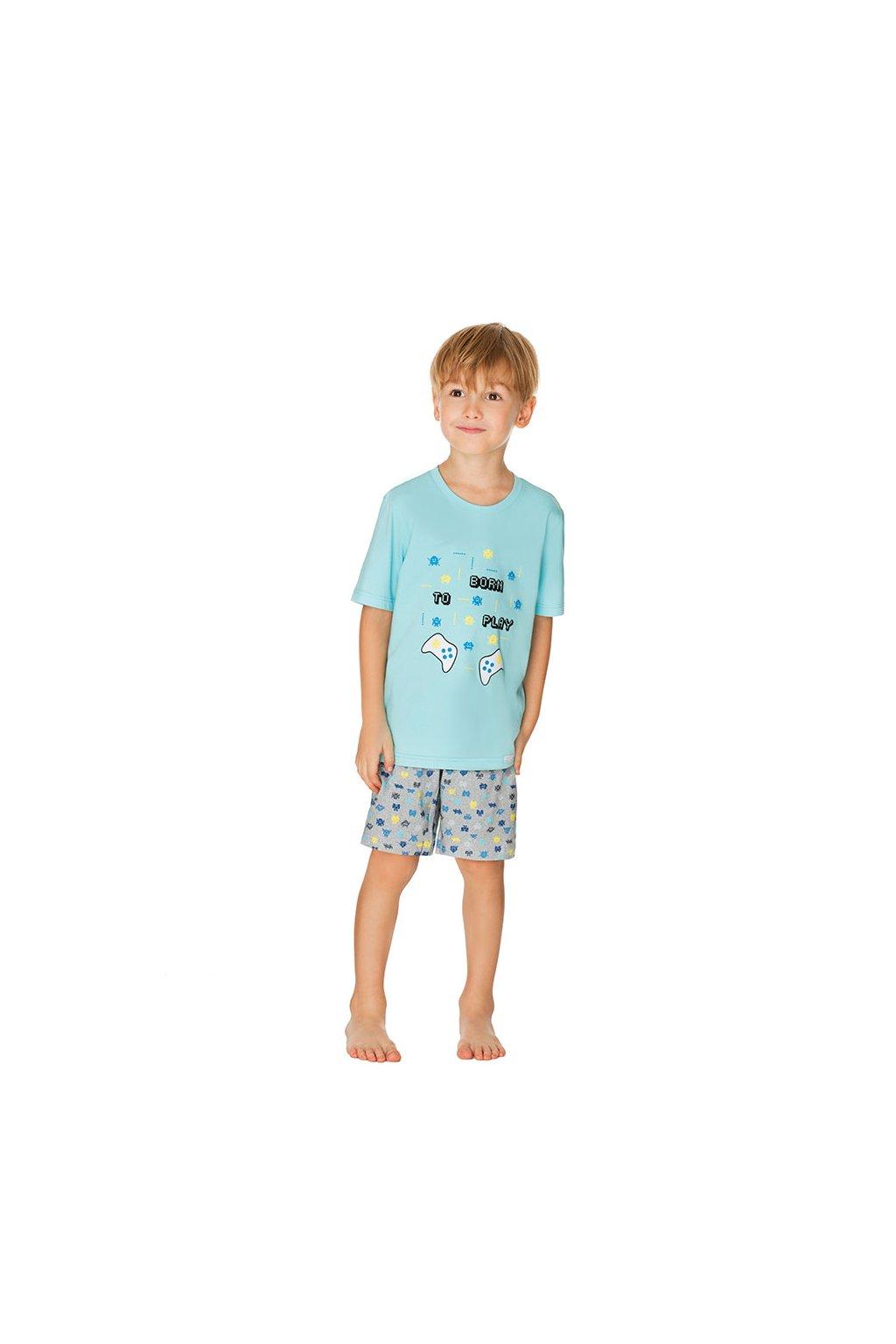 Chlapecké pyžamo s krátkým rukávem, 50495 917, tyrkysová