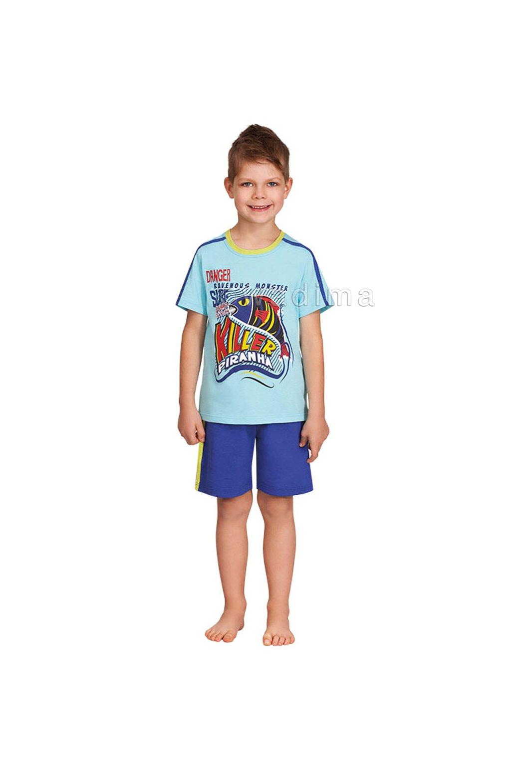 Chlapecké pyžamo s krátkým rukávem, 50466 798, tyrkysová/modrá