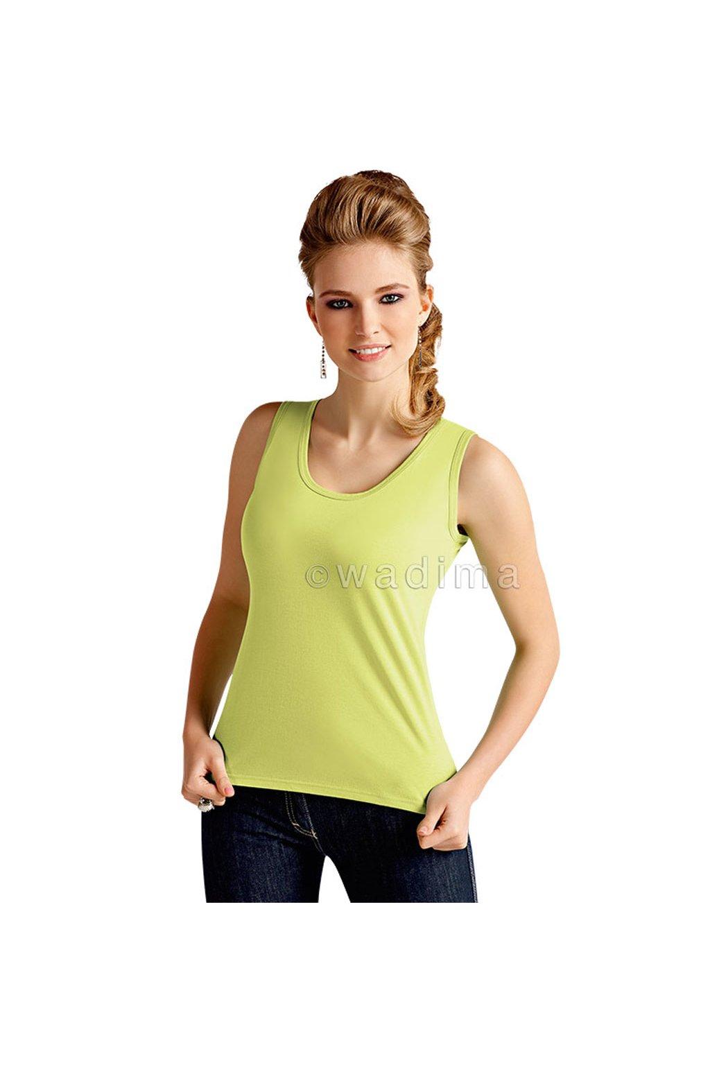 Dámská košilka se širokými ramínky, 10212 359, zelená