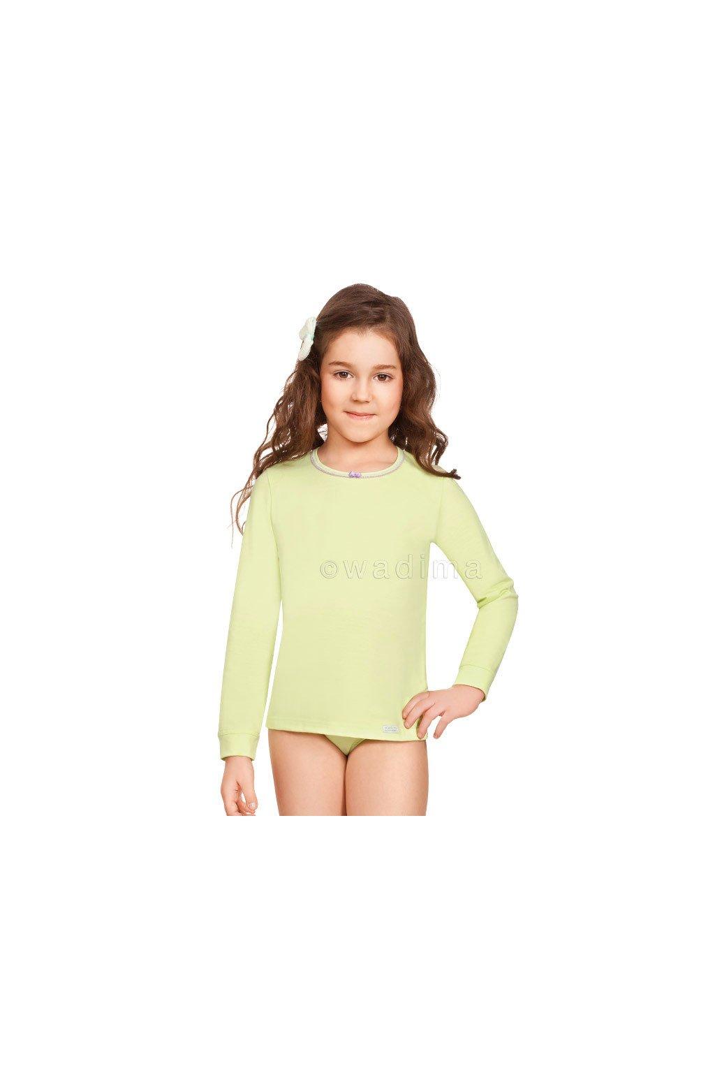 Dívčí košilka s dlouhým rukávem, 40243 83, kiwi