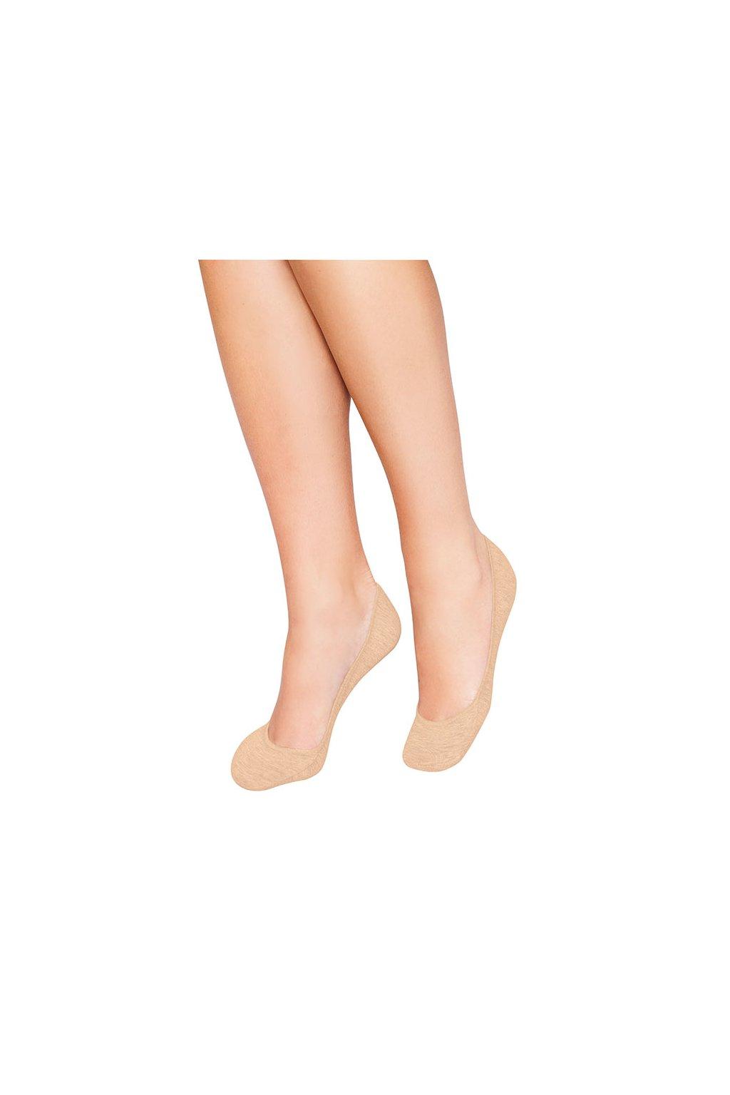Ponožky do balerín, 1A001 210, béžová