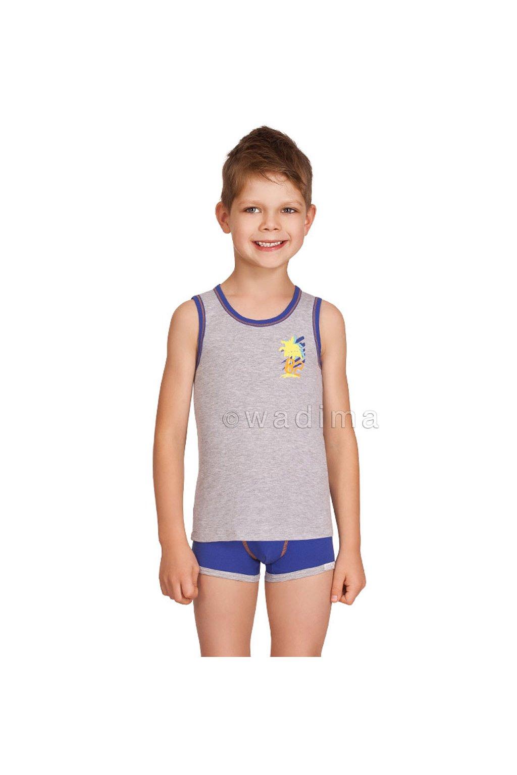 Chlapecký nátělník se širokými ramínky, 50226 30, šedá