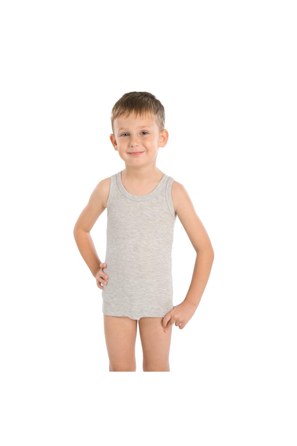 Chlapecký nátělník se širokými ramínky, 502DANIEL 30, šedá