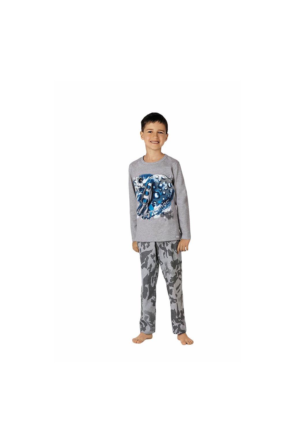 Chlapecké pyžamo s dlouhým rukávem, 50494 30, šedá