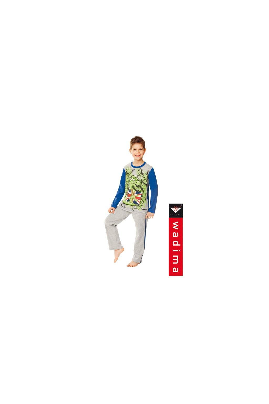 Chlapecké pyžamo, 50479 845, šedá/modrá