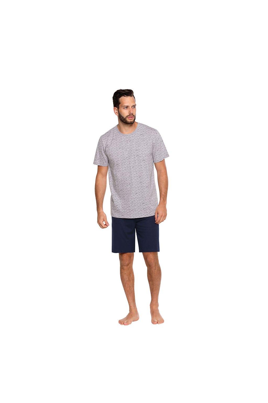 Pánské pyžamo s krátkým rukávem, 204118 30, šedá