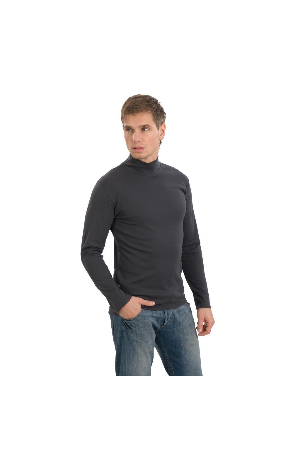 Pánské tričko s dlouhým rukávem, 20306 176, šedá