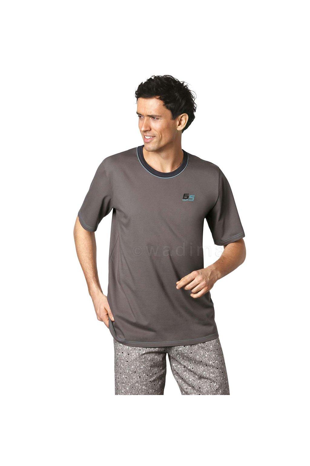 Pánské pyžamo s krátkým rukávem, 20476 107, šedá